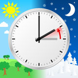Time change to standard time Royalty Free Stock Photography