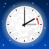 Time change to standard time Royalty Free Stock Photo
