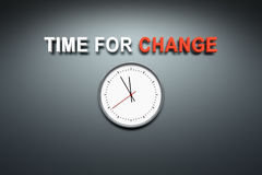 Time for change at the wall Stock Photos