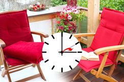 Time change from winter to summer time Stock Photo
