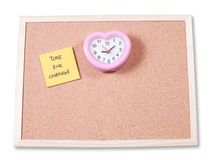 Time for Change .  written on an yellow sticky note Royalty Free Stock Photography