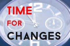 Time for changes Royalty Free Stock Image