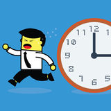 Time chasing businessman. Royalty Free Stock Photos