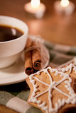 Time for christmas coffee royalty free stock photo