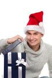 Time for christmas gift Stock Photos
