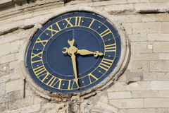 Time clock. In Amiens,Aisne,Picardy,France Royalty Free Stock Image