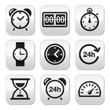Time, clock  buttons set Stock Photography
