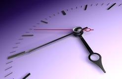 Time clock closeup on deep blue Stock Photography