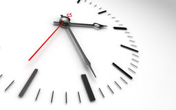 Time clock closeup on whte Stock Images