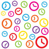 Time clock colorful patten background Stock Image