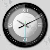 Time a clock. Digital graphic compilation. Computer drawing elements Stock Image