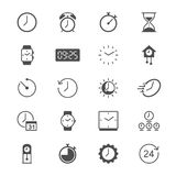 Time and clock flat icons Stock Images