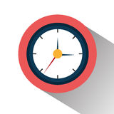 Time clock graphic Royalty Free Stock Photos