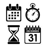 Time clock icon Stock Image