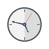 Time and Clock Icon. Office Interior Design Royalty Free Stock Photo