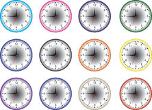 Time clock icon Stock Images