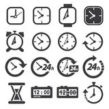 Time and clock icon set. Vector Time and clock icon set Stock Image