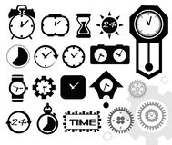 Time, clock icons set,  Royalty Free Stock Photography