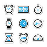 Time, clock  icons set Stock Photos