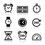 Time, clock  icons set Stock Images