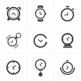 Time Clock Icons Set Royalty Free Stock Photos