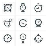 Time Clock Icons Set Royalty Free Stock Photos
