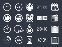 Clock time icons Royalty Free Stock Photos