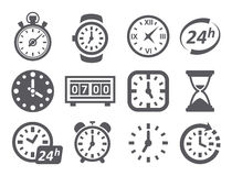 Time and Clock icons Stock Image