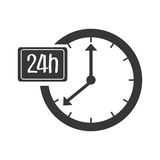 Time and clock isolated icon. Royalty Free Stock Photos