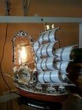 Time. Clock lamp ship Stock Image