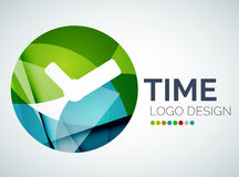 Time, clock logo design made of color pieces Royalty Free Stock Images