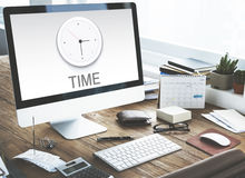 Time Clock Management Concept Royalty Free Stock Photo
