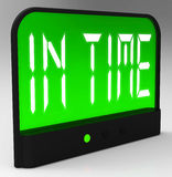 In Time Clock Means Punctual Or Not Late. In Time Clock Meaning Punctual Or Not Late Royalty Free Stock Images