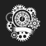 Time clock mechanism Stock Image