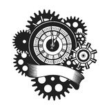 Time clock mechanism Royalty Free Stock Image