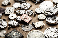 Time and clock mechanisms. Royalty Free Stock Photo