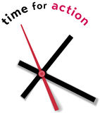Time clock movement call for action Royalty Free Stock Photography