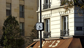 Time  clock  in Paris 13th district Stock Photos
