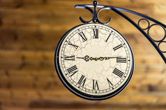 Time Clock Roman Numerals Stock Photo