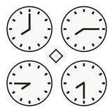 Time clock round watch hour eight quoter half icon simple vector Stock Image