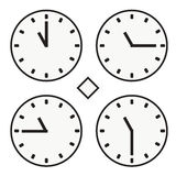 Time clock round watch hour eleven quoter half icon simple vector. Time clock round watch hour icon simple Stock Images