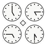 Time clock round watch hour five quoter half icon simple vector Stock Photo