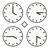 Time clock round watch hour four quoter half icon simple vector Royalty Free Stock Images