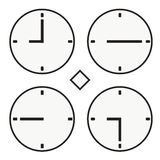 Time clock round watch hour nine quoter half icon simple vector Royalty Free Stock Photography
