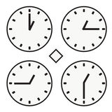 Time clock round watch hour one  quoter half icon simple vector Stock Photography