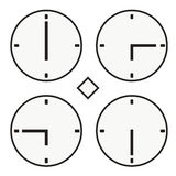 Time clock round watch hour six quoter half icon simple vector Royalty Free Stock Images