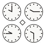 Time clock round watch hour ten quoter half icon simple vector. Time clock round watch hour icon simple Royalty Free Stock Photo