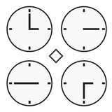 Time clock round watch hour three quoter half icon simple vector Stock Photography