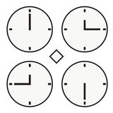Time clock round watch hour tvelve quoter half icon simple vector. Time clock round watch hour icon simple Stock Images