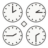 Time clock round watch hour two quoter half icon simple vector Royalty Free Stock Photos
